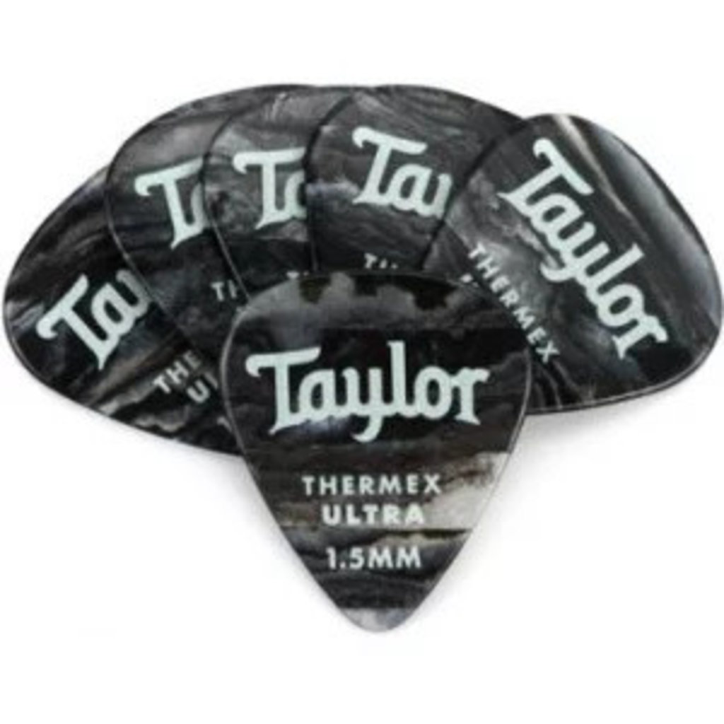 Taylor Guitars Taylor Premium 351 Thermex Ultra Pick Black Onyx 1.5mm 6 pack