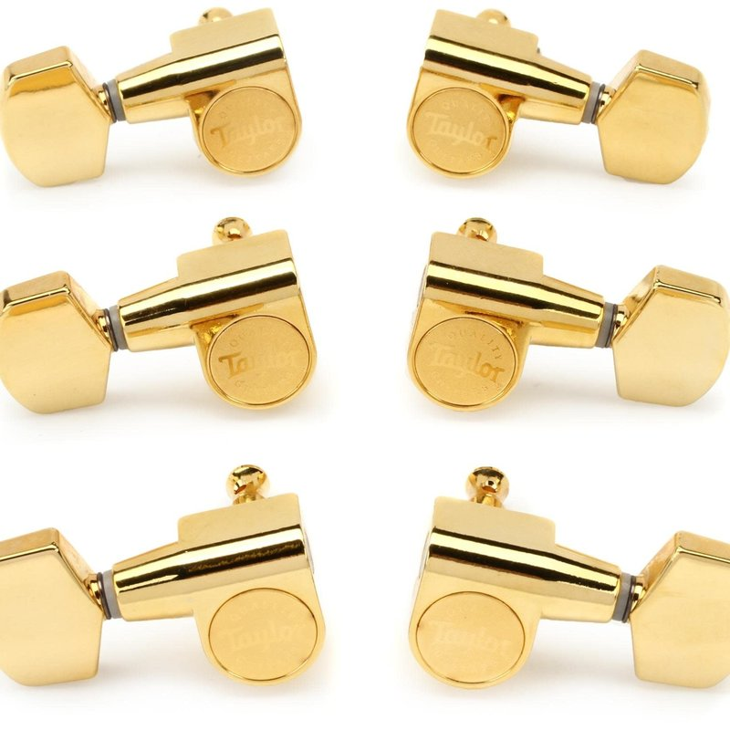 Taylor Guitars Taylor Guitar Tuners 1:18 6 String set in Polished Gold