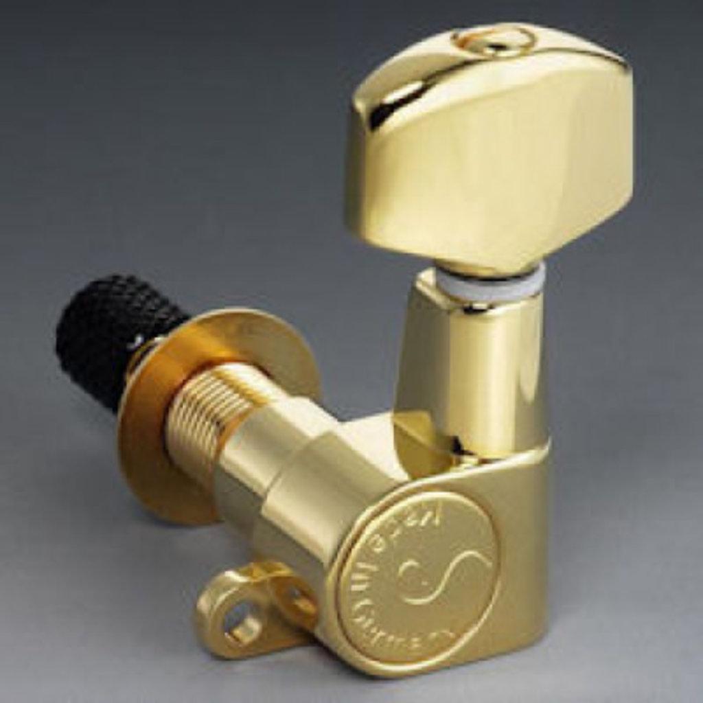 Schaller M6 Mini Locking Tuners Gold  3 + 3 (6 pieces)