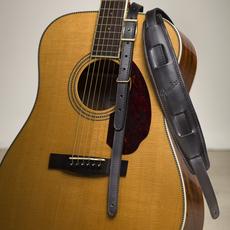 Fender Fender -  Mustang Vintage Saddle Guitar Strap Long - Black