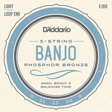 D'addario D'Addario EJ69 Banjo Stings Light Loop End