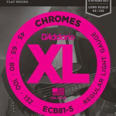 D'addario D'Addario Ecb81-5  5 String Flatwound Bass Strings