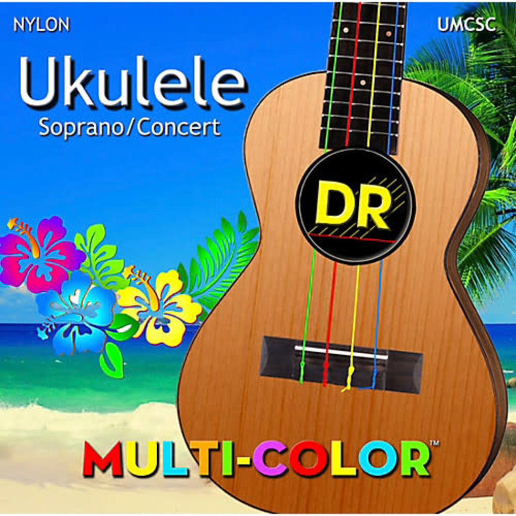 DR Ukulele Strings  Soprano/Concert Multi Colour