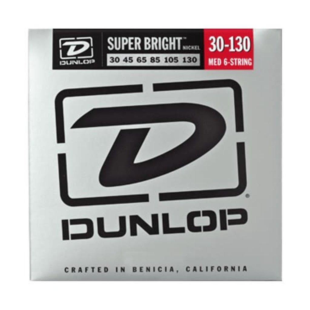 Dunlop Super Bright Steel Bass Strings 6 String Set 30-130