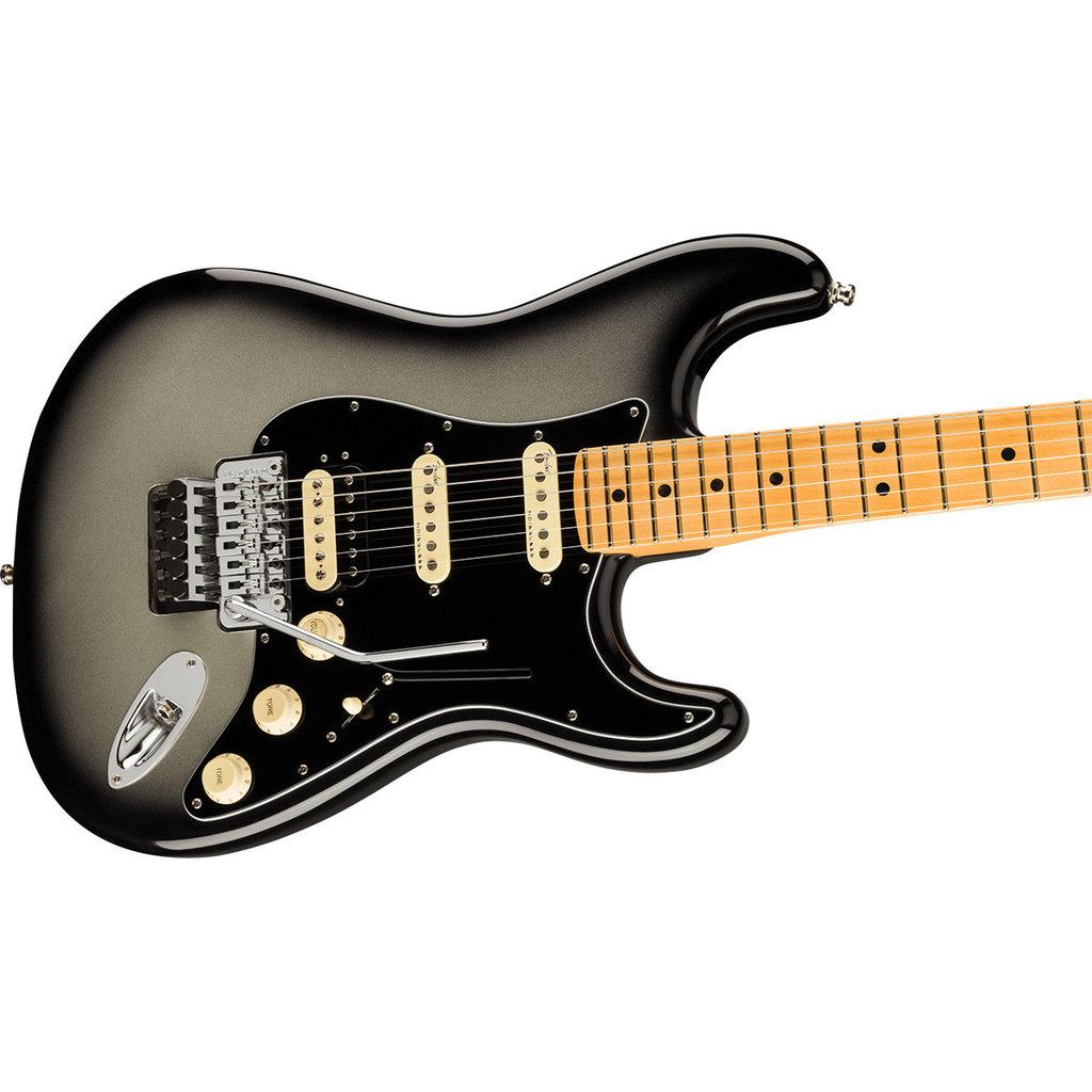 Fender Fender American Ultra Luxe Stratocaster Floyd Rose HSS, Maple Fingerboard, Silverburst