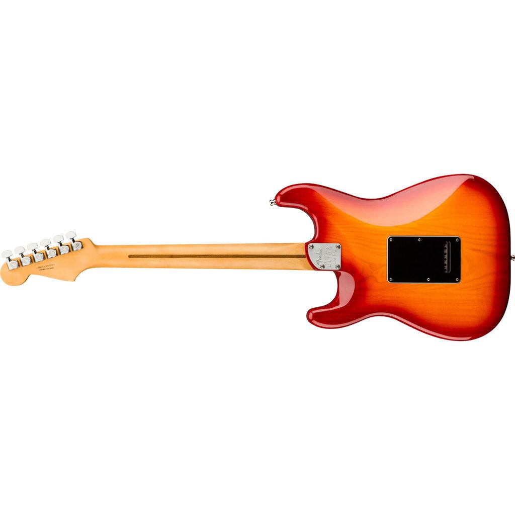 Fender Fender American Ultra Luxe Stratocaster, Maple Fingerboard, Plasma Red Burst