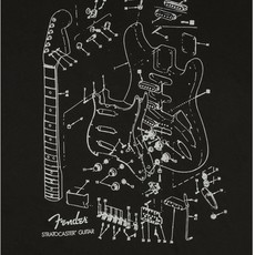 Fender Fender Strat Patent T-Shirt XXL - Black