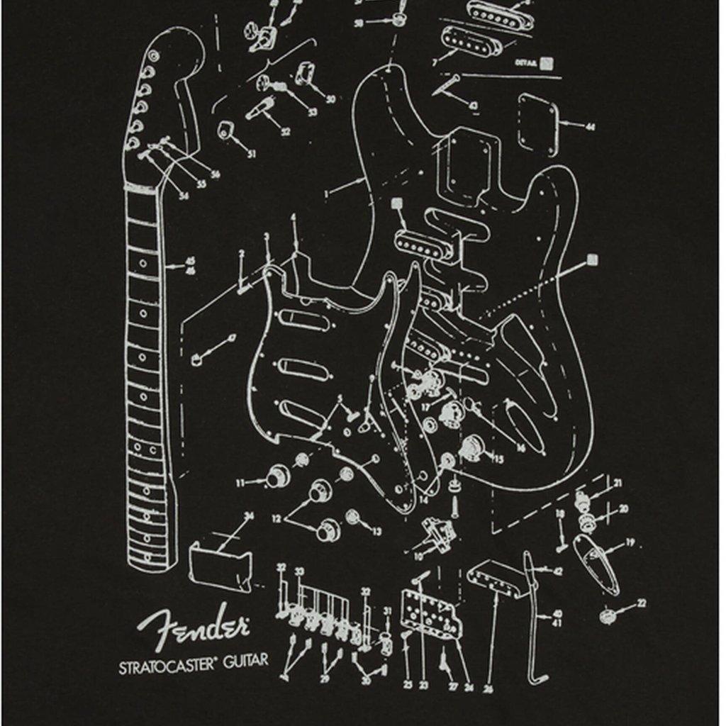Fender Fender Strat Patent T-Shirt Small