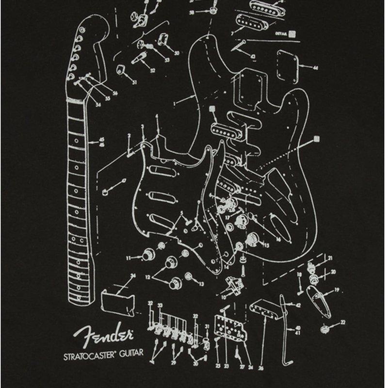 Fender Fender Strat Patent T-Shirt - Small