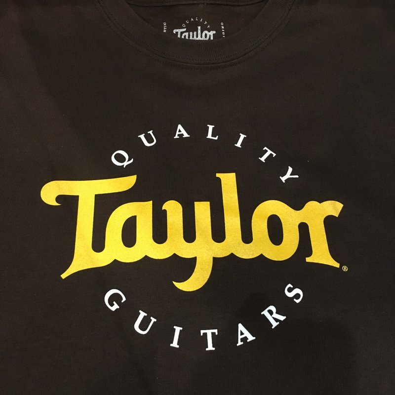 Taylor Guitars Taylor Two Color Logo Brown T Shirt XXL