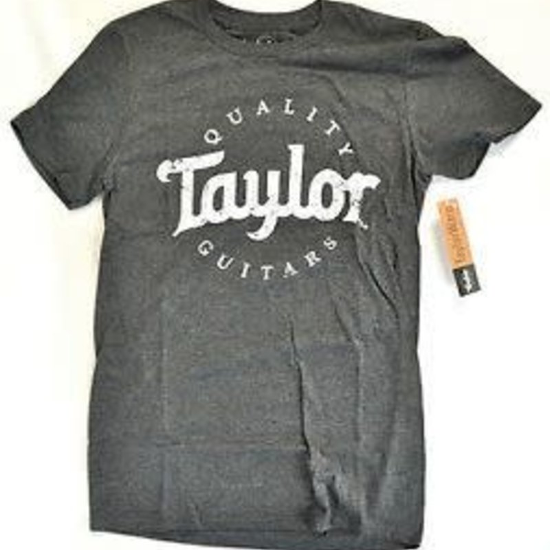 Taylor Guitars Taylor Aged Logo Dark Grey T Shirt XXL