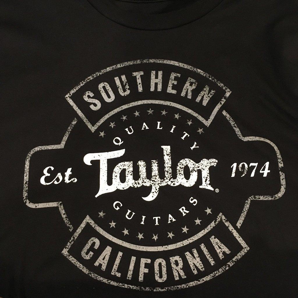 Taylor Guitars Taylor Aged Logo Black T Shirt XXL