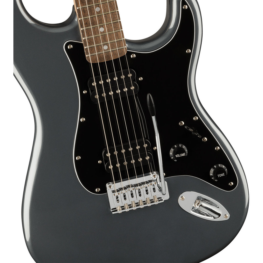 Fender Fender Squier 2021 Affinity Strat HH LRL BPG - Charcoal Frost Metallic