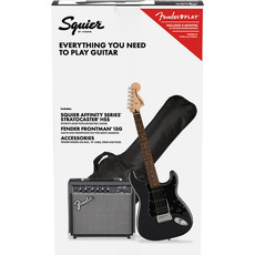 Fender Fender Squier 2021 Affinity HSS Strat Pack Charcoal Frost Metalic