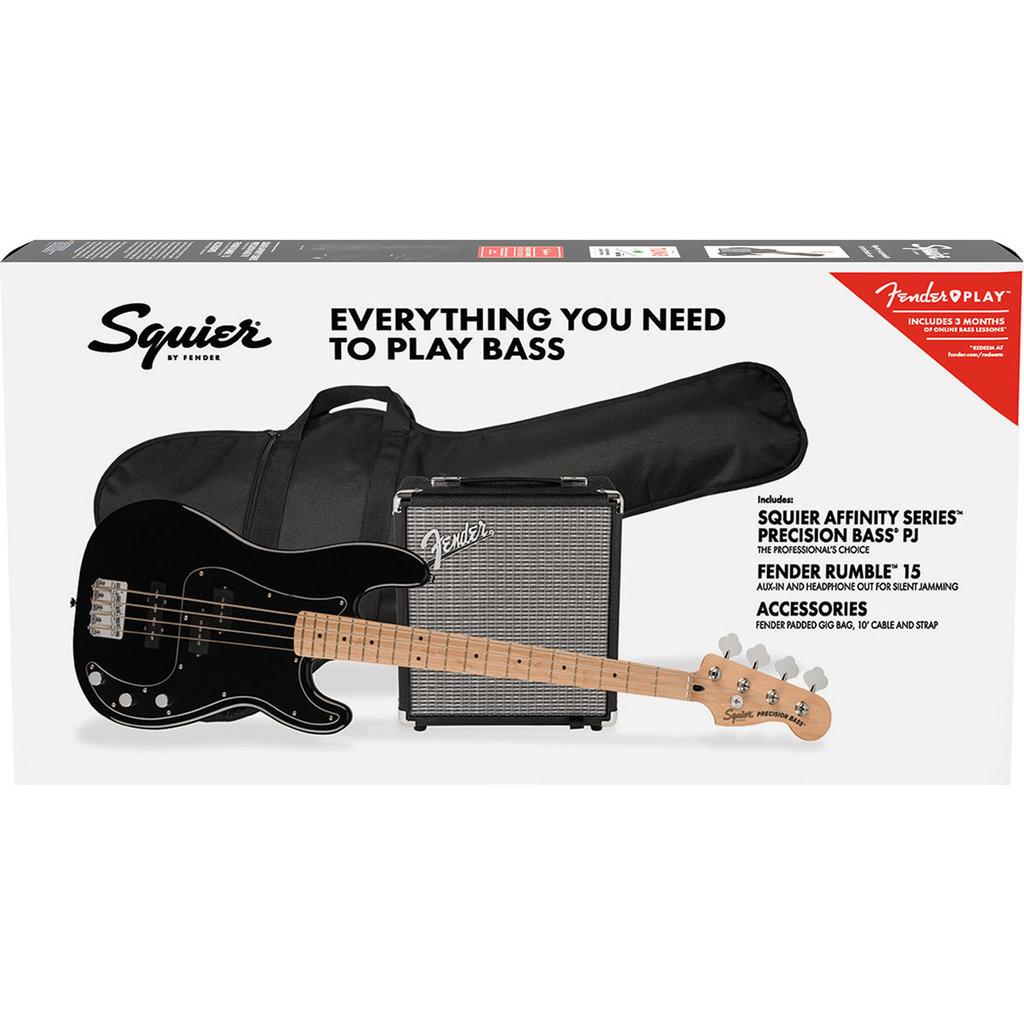 Fender Fender Squier 2021 Affinity Presicion PJ Bass Pack - Black
