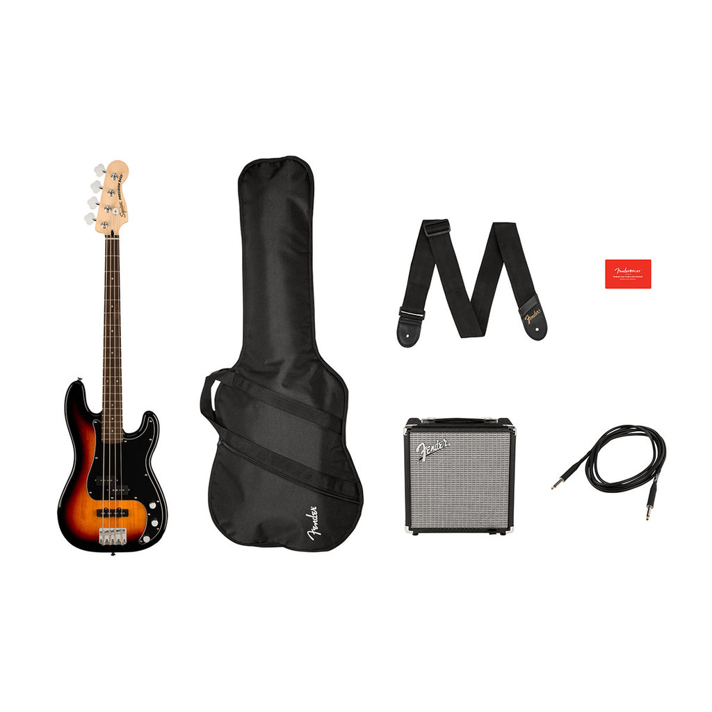 Fender Fender Squier 2021 Affinity Precision Bass PF Pack - 3-Tone Sunburst