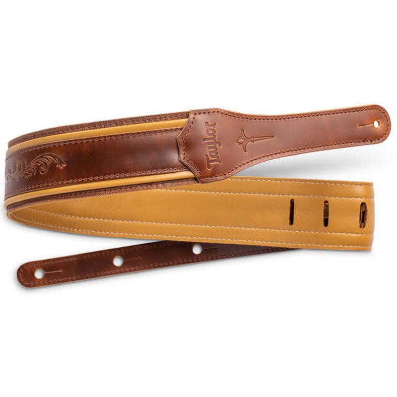 """Taylor Guitars Taylor Nouveau 2.5"""" Leather Guitar Strap"""