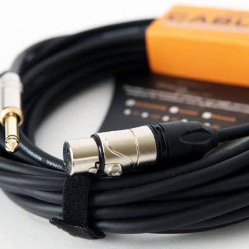 """Leem 25' High-Z Microphone Cable (XLR F+1/4"""" Plug)"""