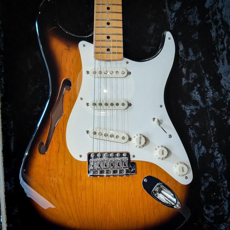 Fender Consignment / Used Fender Eric Johnson Thinline Stratocaster - 2 Tone Sunburst