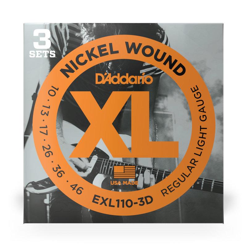 D'addario D'addario EXL110 3D - 3 Pack