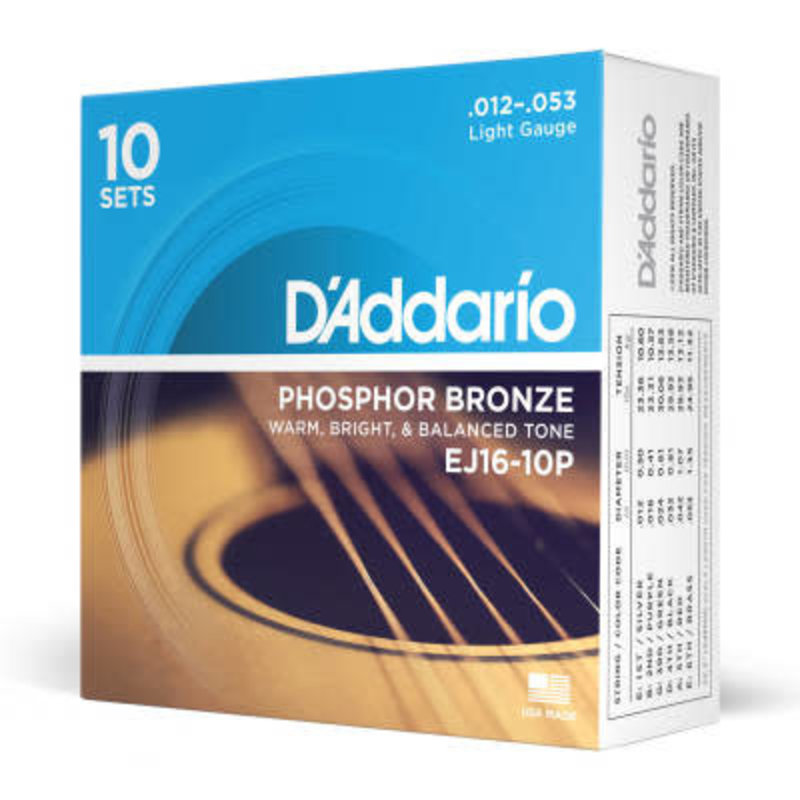 D'addario D'Addario Ej16 10P - 10 Pack