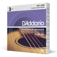 D'addario D'Addario Ej26 3D - 3 Pack