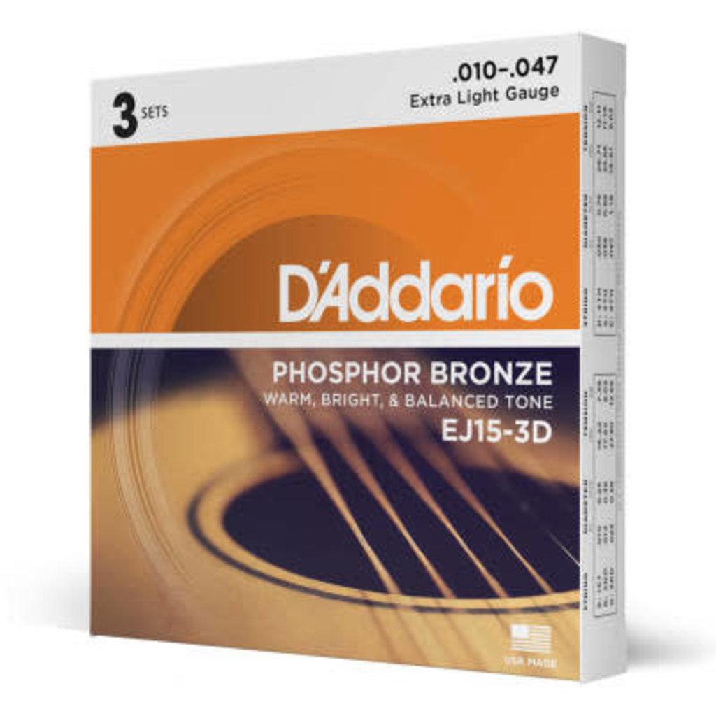D'addario D'Addario Ej15 3D - 3 Pack