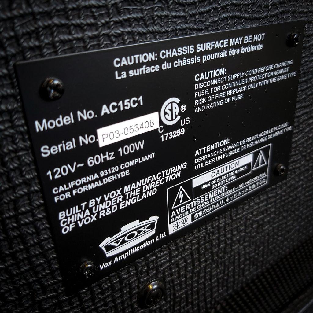 Vox Vox Ac15 C1 Amplifier