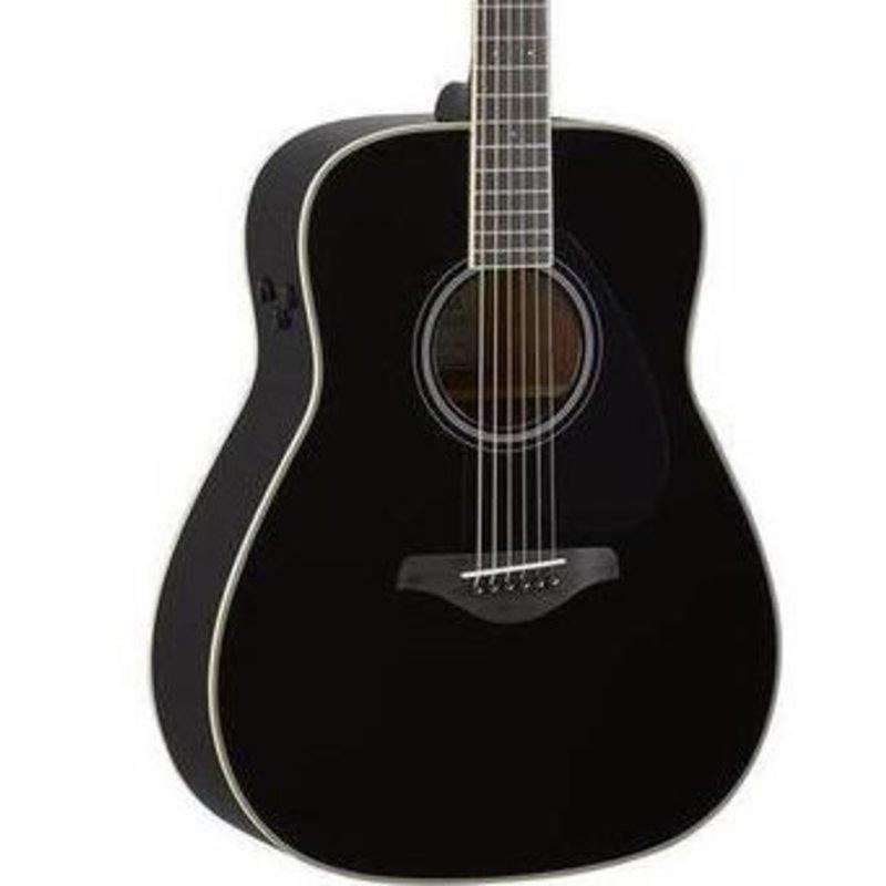 Yamaha Yamaha FGTA BL TransAcoustic  Guitar Black