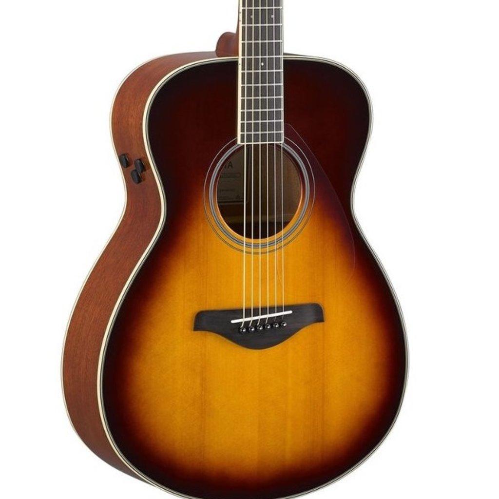 Yamaha Yamaha FSTA BS TransAcoustic  Concert Body Guitar Brown Sunburst