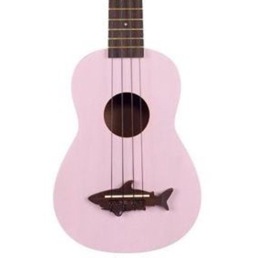 Kala Makala Soprano Shark Ukulele Pink MK-SS-PNK