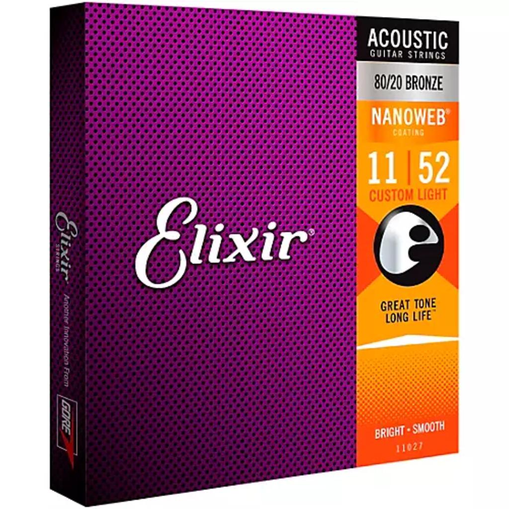 Elixir Elixir Custom Light Nano Ac 80/20  11027