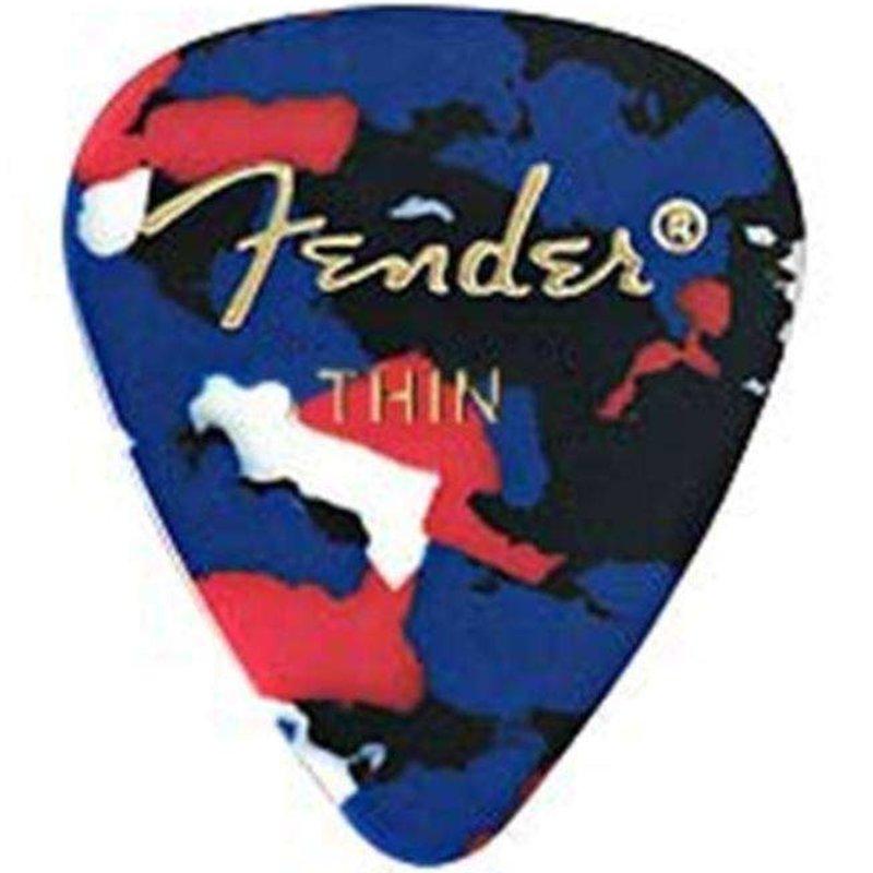 Fender Fender Premium Celluloid Picks  Confetti -  12 Thin Picks
