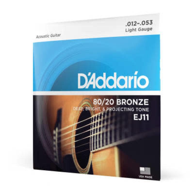 D'addario D'Addario EJ11 - 80/20 Bronze  Acoustic Light