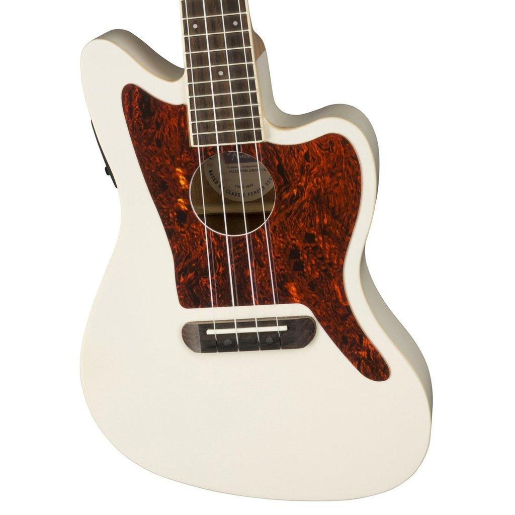 Fender Fender Fullerton Jazzmaster Ukulele with Pickup - White