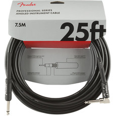 Fender Fender 25' Pro Instrument Cable Black Straight/Angled