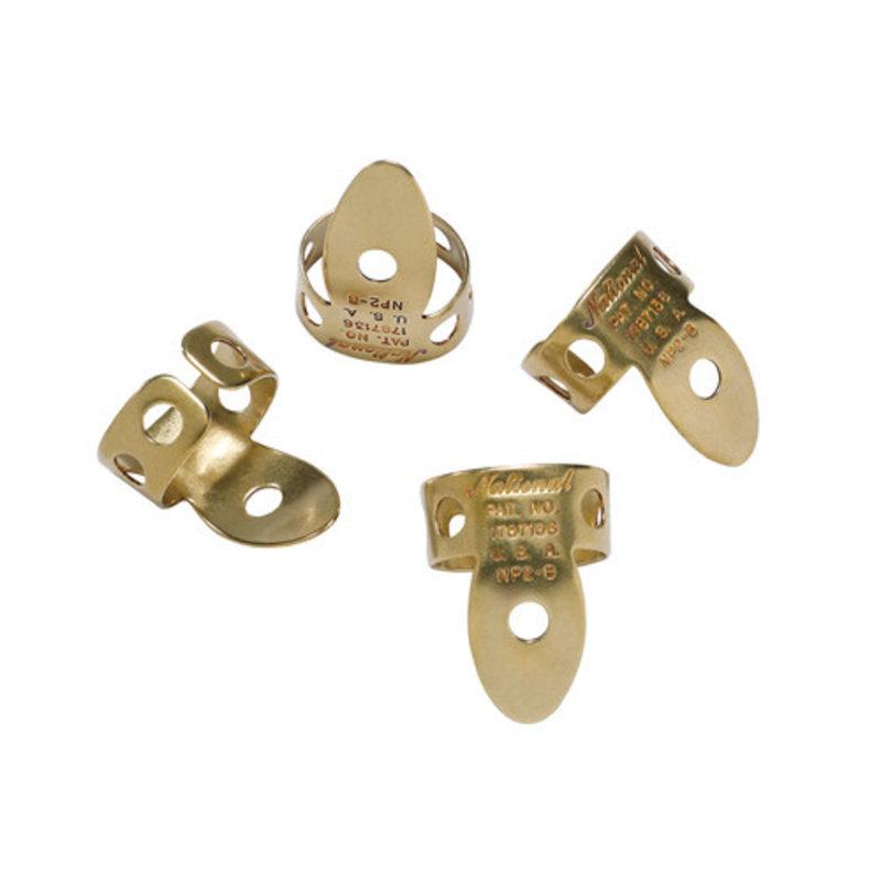 D'addario National NP2B-4 National Finger Picks Brass - Pack of 4