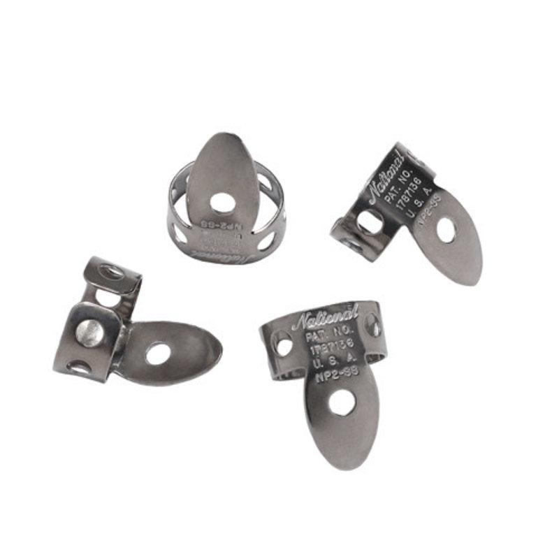 D'addario National NP2SS-4 National Finger Picks Steel - Pack of 4
