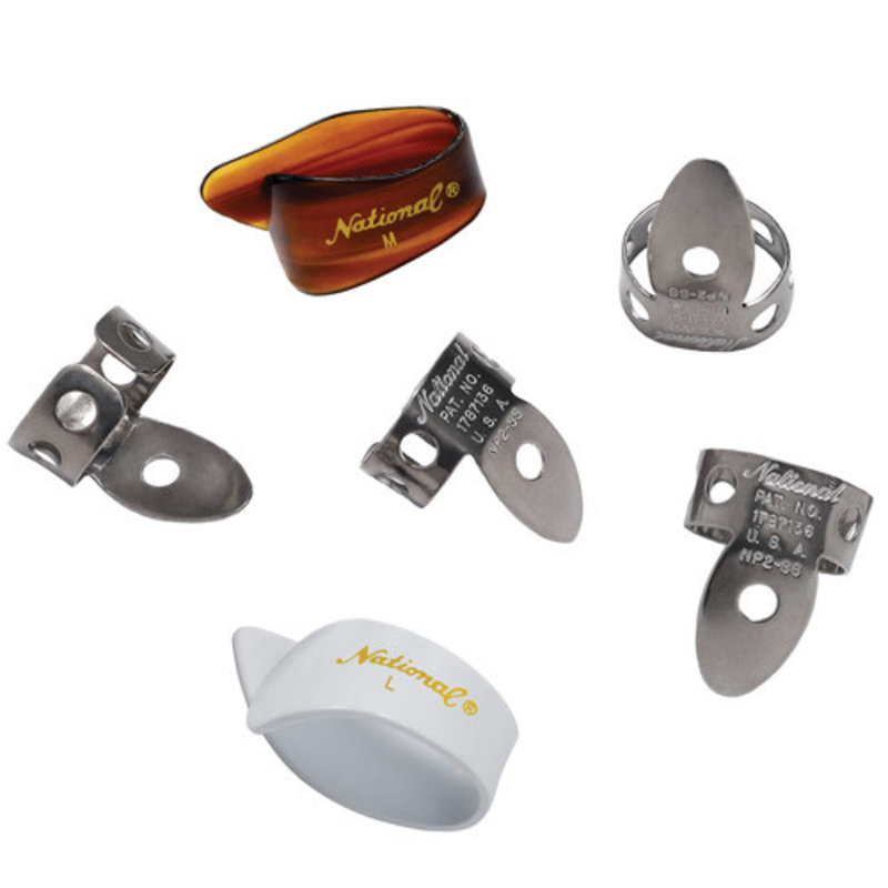 D'addario National NP2SS7T8W-06 National Finger/Thumb Picks Steel - Set