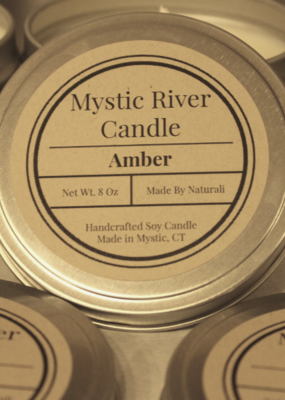 Candles by Naturali Amber 8oz Candle Tin