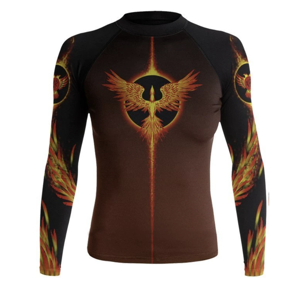 Raven Phoenix Womens Longsleeve Rashguard