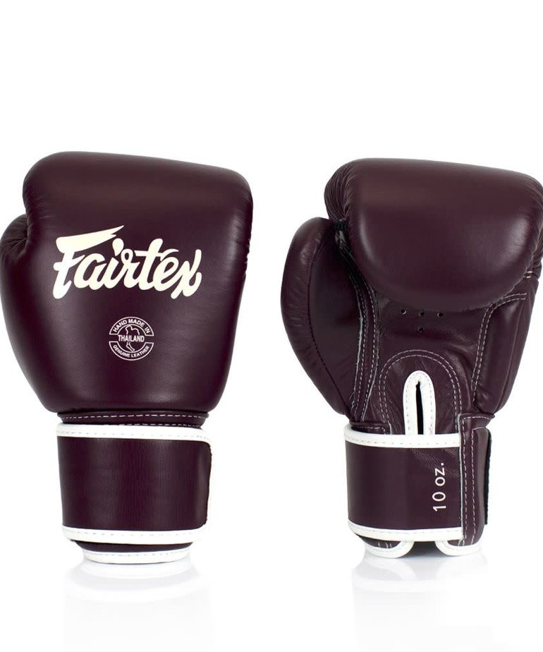 Fairtex Fairtex BGV16 Real Leather Boxing Glove - Maroon