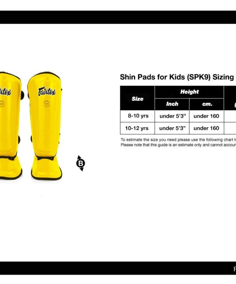 Fairtex Fairtex SPK9 Kids Shinguards - Black