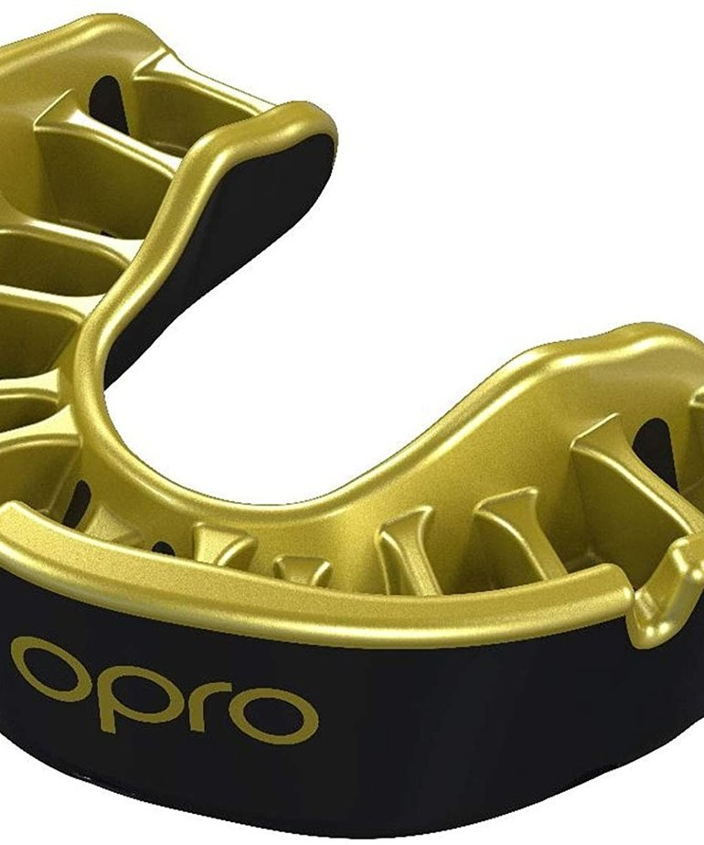 Opro Opro Self-Fit Gold Mouthguard - Black/Gold
