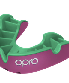 Opro Opro Self-Fit Silver Mouthguard - Pink/Green