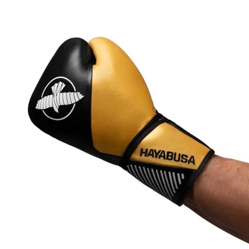 Hayabusa Pro Horse Hair Boxing Gloves - Black/Gold