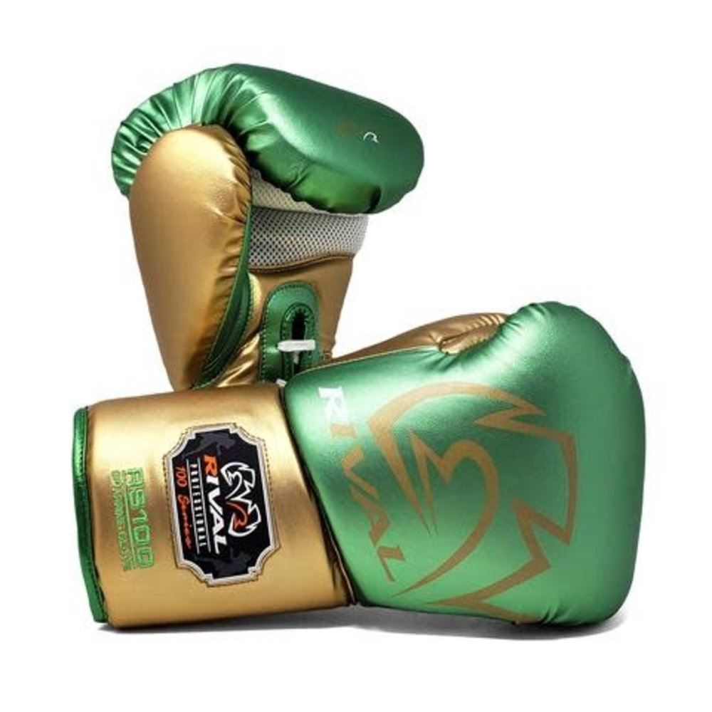 Rival RS100 Pro Sparring Glove - Green/Gold
