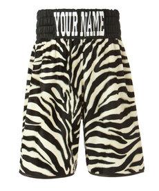 Suzi Wong Suzi Wong Zebra Stripe Boxing Shorts