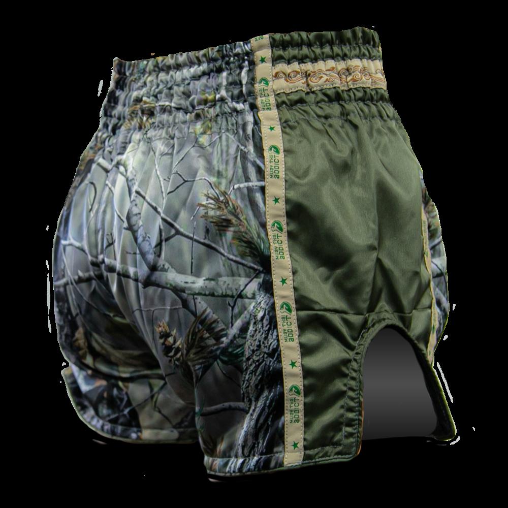 Muay Thai Addict Woodland Camo Muay Thai Shorts