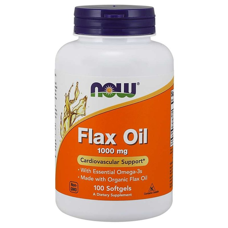 NOW Foods Flax Seed Oil Capsules